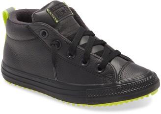 Converse All Star(R) Fleece Lined Mid Top Sneaker