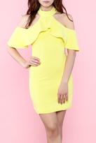 Do & Be Yellow Ruffle Dress