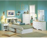 South Shore Shaker 1-Drawer Nightstand in Pure White and Natural Maple