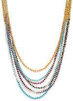ABS by Allen Schwartz Gold-Tone 7-Row Beaded Necklace