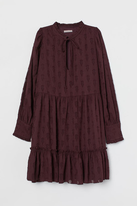 H&M Wide-cut Chiffon Dress - Purple