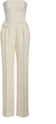 Brandon Maxwell Strapless Wool-Silk Jumpsuit