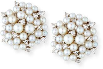 Paul Morelli Lagrange Pearl & Diamond Cluster Earrings