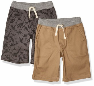 Amazon Essentials Big 2-Pack Boys Pull-On Woven Short