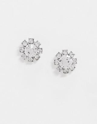 True Decadence stud earrings in crystal flower