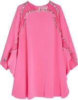 Emilio Pucci Studded silk mini dress