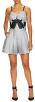 Jonathan Simkhai Linen Pleated Lattice Romper