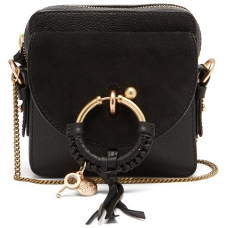 See by Chloe Joan Square Leather And Suede Cross-body Bag - Black