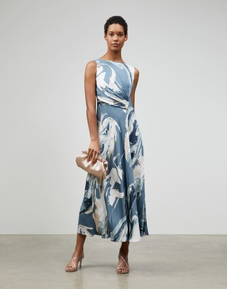 Lafayette 148 New York Geode Print Anita Dress