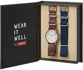 Timex Weekender Box Set Leather & Nylon Interchangeable Straps Casual TW6G012500