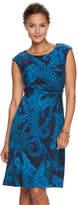 Dana Buchman Petite Twist-Front Dress