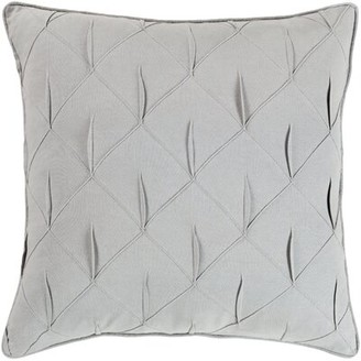 "Latitude Run Moll Textured Cotton Throw Pillow Cover Color: Gray, Size: 22"" x 22"""