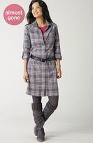 J. Jill Plaid corduroy shirtdress