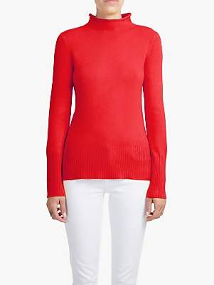 French Connection Mock Neck Jumper, Mars Red