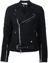 3.1 Phillip Lim classic biker jacket - women - Cotton/Spandex/Elastane/Modal/Viscose - 4