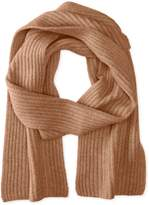 Williams Cashmere Men's Ribbed Scarf, Silver Grey
