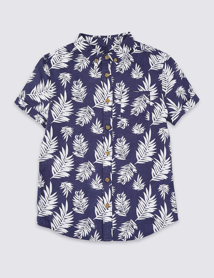 Marks and Spencer Printed Shirt (3-16 Years)