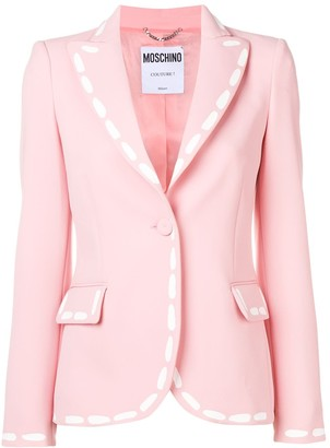 Moschino Stitch Print Fitted Blazer