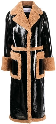 Stand Studio Faux Shearling-Trimmed Coat
