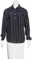 Frame Striped Silk Top