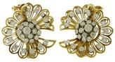 Van Cleef & Arpels 18k Gold Diamond Clip-on Earrings Brooches