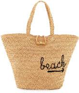 Buji Baja To The Beach Raffia Tote Bag