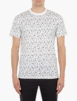 Lanvin White Cotton Footprint T-Shirt
