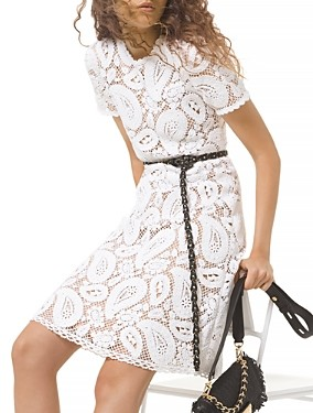 MICHAEL Michael Kors Crocheted Cotton Dress