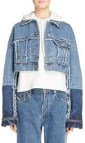 Acne Studios Women's Kremi Crop Denim Jacket