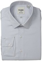 Ben Sherman Men's Houndstooth Shirt with Spread Collar - Grey