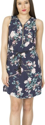 M&Co Izabel floral zip front skater dress