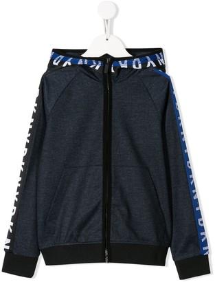 DKNY Logo Tape Zip-Up Hoodie