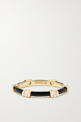 Melissa Kaye Zea 18-karat Gold, Enamel And Diamond Ring - 6