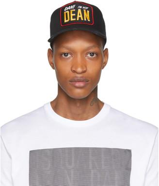 DSQUARED2 Black Dan Im Not Dean Baseball Cap