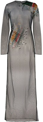 Gianfranco Ferré Pre Owned 1990s Sheer Sequin Embroidered Dress