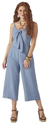 Wrangler Jumpsuit Tie Front (Chambray) Women's Jumpsuit & Rompers One Piece