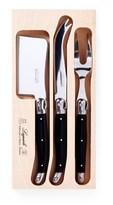 Laguiole Andre Verdier Debutant Cheese Knife Set Black 3 Piece