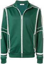 Valentino embroidered detail track jacket