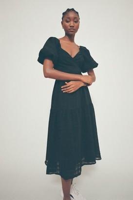 ASTR the Label Sonnet Puff Sleeve Midi Dress
