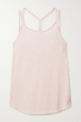 Nike Yoga Strappy Jersey Tank - Pink