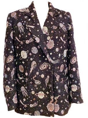 One Imaginary Girl Outer Space Jacquard Double Breasted Blazer-One Of A Kind