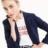 J.Crew Petite linen blazer with scalloped collar