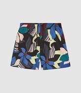 Reiss Aida - Printed Swim Shorts in Multi