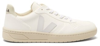 Veja V-10 Cwl Faux-leather Trainers - White