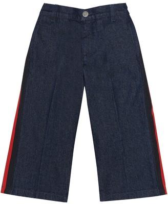 Gucci Kids Striped wide-leg jeans
