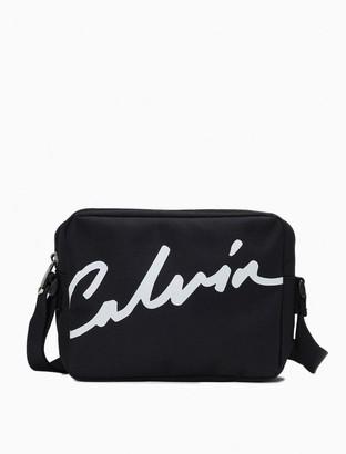 Calvin Klein Nylon Logo Camera Bag
