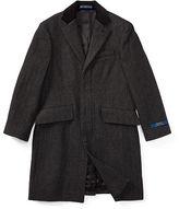 Ralph Lauren 8-20 Velvet-Trim Merino Wool Coat