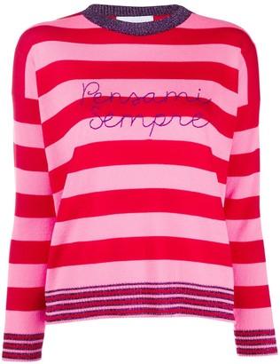 Sempre Giada Benincasa striped 'pensami sempre' jumper