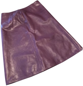 Marni Purple Leather Skirt for Women