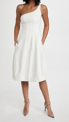 Halston Galen One Sleeve Cocktail Dress
